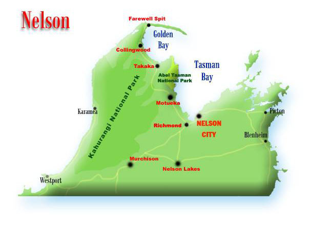 Nelson New Zealand Nelson Map NEW ZEALAND NELSON MAP