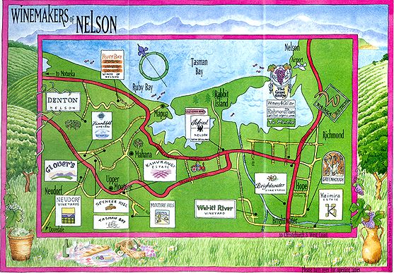 Nelson New Zealand Wineries Wine trails NEW ZEALAND WINERIES AND